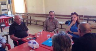 وفد من اليونامي يزور قرى نهلة لمتابعة قضية الاستيلاء (1)