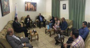 1 ابناء النهرين يستقبل وفد من المجموعة العراقية الكندية