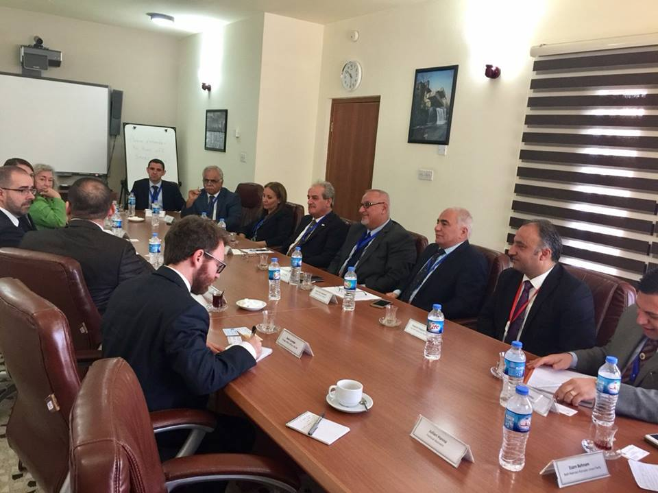 أبناء النهرين في اجتماع بالقنصلية الأميركية في أربيل 1