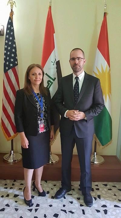 أبناء النهرين في اجتماع بالقنصلية الأميركية في أربيل 2