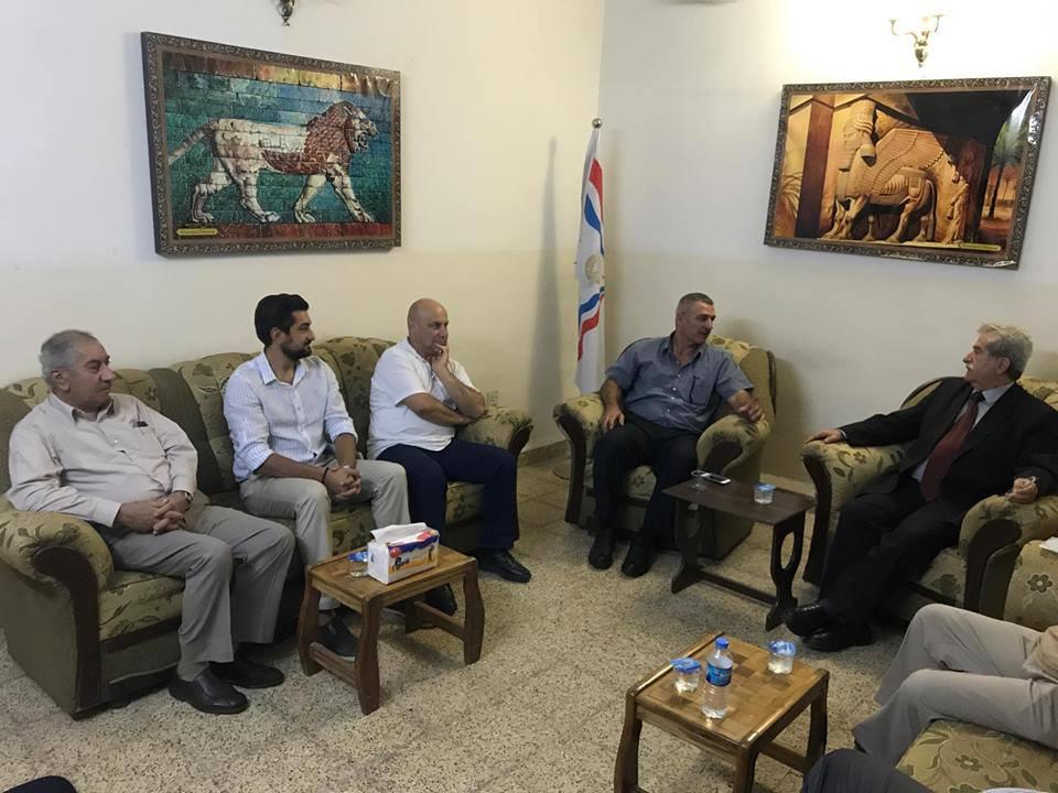أبناء النهرين يستقبل في أربيل السيد بشير سعدي وعدد من الناشطين من أبناء شعبنا