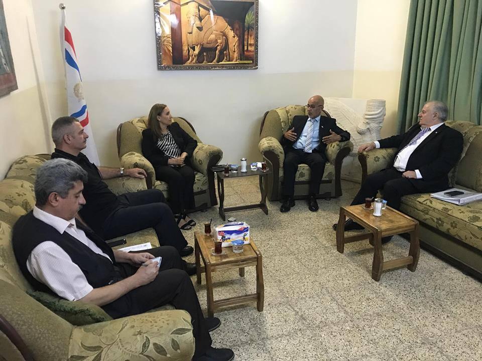 أبناء النهرين يستقبل وفد الاتحاد الآشوري العالمي 3